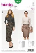 Burda Ladies Sewing Pattern 6469 Pencil Skirts with Patch Pockets