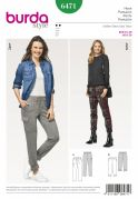 Burda Ladies Easy Sewing Pattern 6471 Casual Trousers