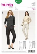 Burda Ladies Sewing Pattern 6472 Classic Pleated Trousers