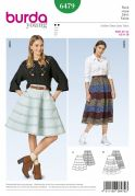 Burda Ladies Easy Sewing Pattern 6479 Full Panelled Skirts