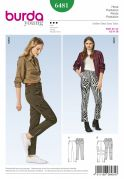 Burda Ladies Sewing Pattern 6481 Skinny Fit Jeans Style Trousers