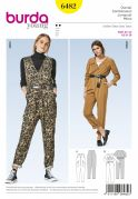 Burda Ladies Easy Sewing Pattern 6482 Casual Jumpsuits