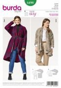 Burda Ladies Plus Size Sewing Pattern 6490 Soft Drape Jackets