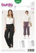 Burda Ladies Easy Plus Size Sewing Pattern 6492 Trousers