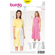 Burda Ladies Sewing Pattern 6499 Panelled Dresses