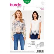 Burda Ladies Easy Sewing Pattern 6502 Peasant Blouse Tops