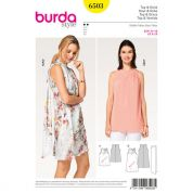 Burda Ladies Easy Sewing Pattern 6503 Dress, Top & Scarf