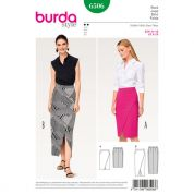 Burda Ladies Easy Sewing Pattern 6506 Wrap Look Skirts