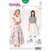 Burda Ladies Sewing Pattern 6507 Pleated Skirts