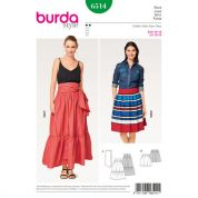 Burda Ladies Easy Sewing Pattern 6514 Tiered Skirts