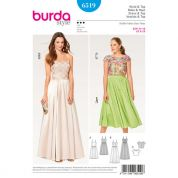 Burda Ladies Sewing Pattern 6519 Lace Top & Strappy Dresses