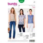 Burda Ladies Easy Sewing Pattern 6525 Blouse Tops