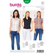 Burda Ladies Easy Sewing Pattern 6527 Stand Collar Blouse Tops