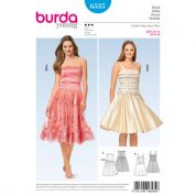 Burda Ladies Sewing Pattern 6535 Party Dresses