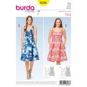Burda Ladies Easy Sewing Pattern 6536 High Waist Dresses