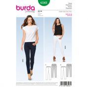 Burda Ladies Sewing Pattern 6543 Skinny Fit Jeans & Pants