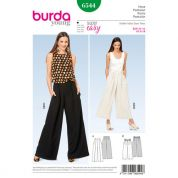 Burda Ladies Easy Sewing Pattern 6544 Wide Leg Pants