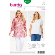 Burda Ladies Easy Plus Size Sewing Pattern 6552 Blouse Tops