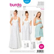 Burda Ladies Maternity Sewing Pattern 6557 Wedding & Day Dresses