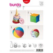 Burda Craft Easy Sewing Pattern 6561 Baby Play Toys