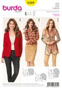 Burda Ladies Easy Sewing Pattern 6569 Fitted Jackets