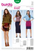 Burda Ladies Easy Sewing Pattern 6598 Basic Narrow Jersey Knit Skirts