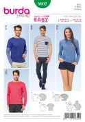 Burda Ladies & Mens Easy Sewing Pattern 6602 T Shirts, Tops & Hoodies