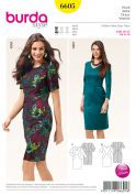 Burda Ladies Easy Sewing Pattern 6605 Panelled Fitted Dresses