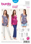 Burda Ladies Maternity Easy Sewing Pattern 6607 Tops, Trousers & Shorts