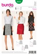 Burda Ladies Easy Sewing Pattern 6612 Bias Cut Flared Skirts