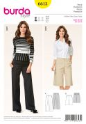 Burda Ladies Easy Sewing Pattern 6613 Trousers & Long Shorts