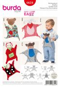 Burda Baby Easy Sewing Pattern 6624 Cuddle Cloth Comfort Toys