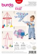 Burda Baby Easy Sewing Pattern 6625 Mobiles & Toys