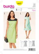 Burda Ladies Easy Sewing Pattern 6627 Princess Seam Dresses
