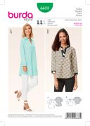 Burda Ladies Sewing Pattern 6633 Tunic Tops