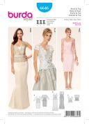 Burda Ladies Sewing Pattern 6646 Dresses & Top with Lace Overlay