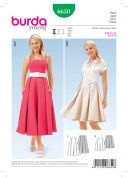 Burda Ladies Easy Sewing Pattern 6650 Inverted Pleat Bell Shaped Skirts