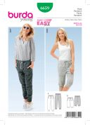 Burda Ladies Easy Sewing Pattern 6659 Casual Tracksuit Pants