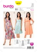Burda Ladies Sewing Pattern 6670 Summer Dresses