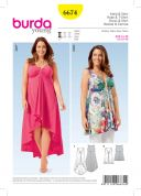Burda Ladies Easy Sewing Pattern 6674 Top & Dress