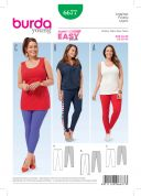 Burda Ladies Easy Sewing Pattern 6677 Leggings in 3 Styles