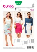 Burda Ladies Easy Sewing Pattern 6679 Figure Hugging Panel Skirts