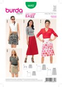 Burda Ladies Easy Sewing Pattern 6682 Slightly Flared Skirts