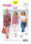 Burda Ladies Easy Sewing Pattern 6684 Dress & Blouse Tops