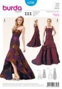 Burda Ladies Sewing Pattern 6708 Evening Dresses