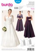 Burda Ladies Plus Size Sewing Pattern 6710 Wedding & Bridesmaid Dresses & Bolero