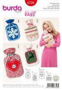 Burda Crafts Easy Sewing Pattern 6728 Hot Water Bottle Covers
