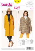 Burda Ladies Easy Sewing Pattern 6736 Coat & Jacket