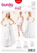 Burda Ladies Easy Sewing Pattern 6739 Tiered Skirts in 3 Styles