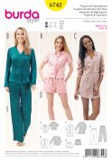 Burda Ladies Easy Sewing Pattern 6742 Tops, Pants, Shorts & Dress